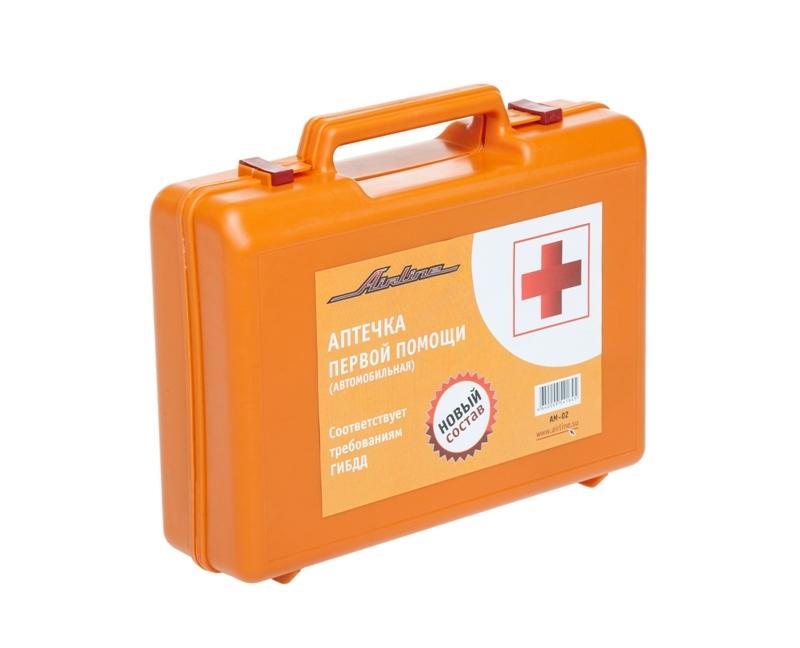 Аптечка автомобильная в пластиковом футляре (Соответствует требованиям ГИБДД), AIRLINE, AM02