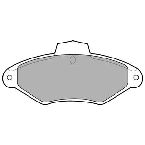 Колодки дисковые, DELPHI, LP787