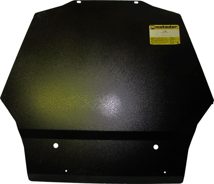 Защита картера двигателя, КПП Mitsubishi Pajero IV 2006- V=3,0, 3,8, 3,2TD (сталь 3 мм), MOTODOR1132
