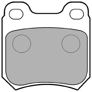 Колодки дисковые, DELPHI, LP590