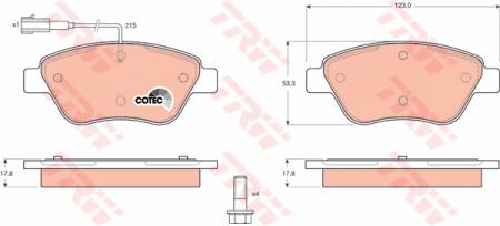 Колодки дисковые Передние, TRW, GDB1482