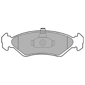 Колодки дисковые, DELPHI, LP1603