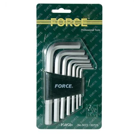 FORCE 5072 Набор ключей Г-образных HEX 2,5-10мм 7пр