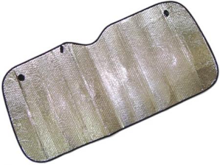 Шторка солнцезащитная на лобовое стекло 130х60 см двухсторонняя, KIOKI, CF08
