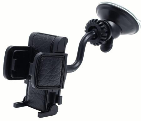 KOTO  Держатель телефона универсальный 44-84мм на лобовое стекло/дефлектор/панель черный