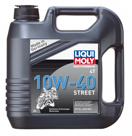 7512 LiquiMoly НС-синт.мот.масло д/4-т.мотоц. Motorbike 4T Street 10W-40 SL;MA-2(4л) LIQUI MOLY