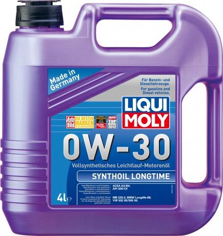 LiquiMoly 0W30 Synthoil Longtime (4L) масло мотор.!син\API SM/CF,ACEA A3/B4,MB229.3,VW 502.00/505.00
