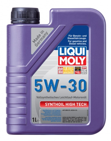 LiquiMoly 5W30 Synthoil High Tech (1L) масло моторное !синт.\ API SM/CF, ACEA A3/B4 LIQUI MOLY 9075