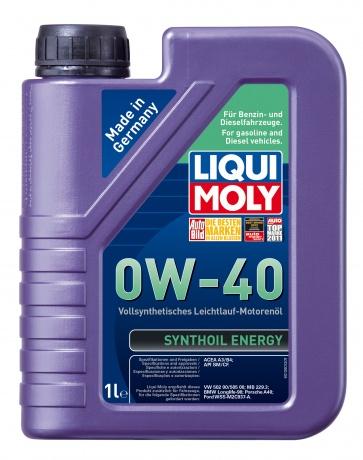 LiquiMoly 0W40 Synthoil Energy (1L) масло мотор.!син.\API SM/CF,ACEA A3/B4,VW 502.00/505.00,MB 229.3
