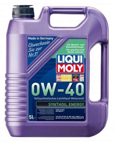 LiquiMoly 0W40 Synthoil Energy (5L) масло мотор.!син.\API SM/CF,ACEA A3/B4,VW 502.00/505.00,MB 229.3