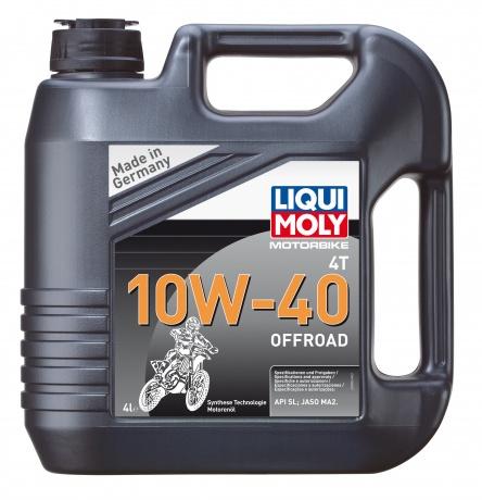 LiquiMoly 10W40 Motorbike 4T Offroad (4L)_(НС-синт.) масло моторное! для квадроциклов\\ API SL; MA-2