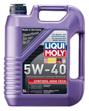 LiquiMoly 5W40 Synthoil High Tech (5L) масло мотор.!син.\API SM/CF,ACEA A3-04/B4-04:MB229.3,BMW,VW L