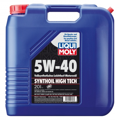 LiquiMoly 5W40 Synthoil High Tech (20L)_масло мотор.!син.\\API SM/CF