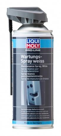 7387 LiquiMoly Грязеотталкивающая белая смазка Pro-Line Wartungs-Spray weiss (0,4л)