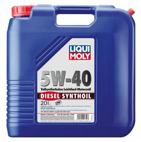 LiquiMoly 5W40 Diesel Synthoil (20L)_масло мотор.!син\\API CF