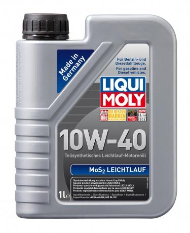 LiquiMoly 10W40 MoS2 Leichtlauf (1L) масло моторное !полусинт.\ API SL/CF,ACEA A3-04, B4-04 LIQUI MO