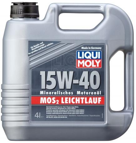 LiquiMoly 15W40 MoS2 Leichtlauf (4L) масло моторное !мин.\ API SL/CF, ACEA A3/B3 LIQUI MOLY 1949