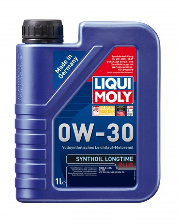 LiquiMoly 0W30 Synthoil Longtime Plus (1L) масло мотор.!син\ACEA A1/B1/A5/B5,VW 503.00/506.00/506.01