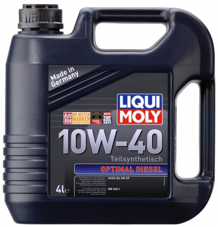 LiquiMoly 10W40 Optimal Diesel (4L) масло моторное !синт.\ API CF, ACEA B3-04: MB 229.1 LIQUI MOLY 3