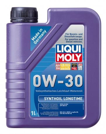 LiquiMoly 0W30 Synthoil Longtime (1L) масло мотор.!син\API SM/CF,ACEA A3/B4,MB229.3,VW 502.00/505.00