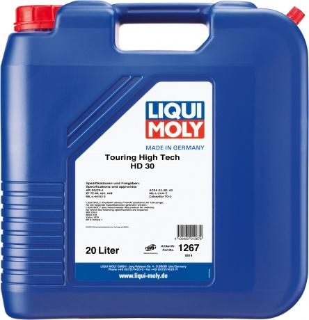 Минеральное моторное масло. Touring High Tech HD 30