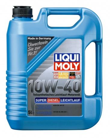 LiquiMoly 10W40 Super Diesel Leichlauf (5L) масло мот!п/син.\\ API CF,ACEA B4-04, MB 229.1, VW 505 00