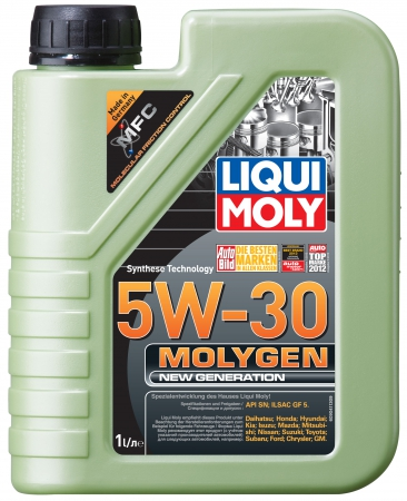 LiquiMoly 5W30 Molygen New Generation (1L) масло моторное !синт.\ API SN, ILSAC GF-5 LIQUI MOLY 9041