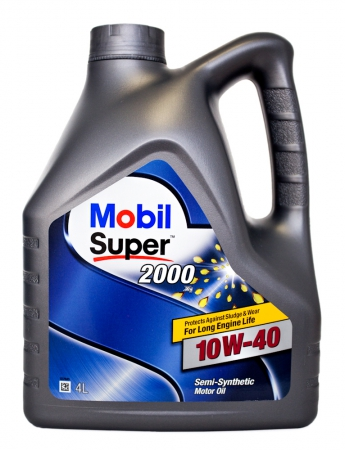 Масло моторное полусинтетическое Mobil SUPER 2000 X1, 10w40, 4л.