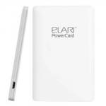 PowerCard 2500 mAh MicroUSB, Белый, ELARI, 187462