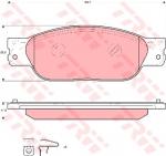 Колодки дисковые Передние, TRW, GDB1510