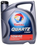 Моторное масло TOTAL QUARTZ 7000, 10W-40, 5л, 148647