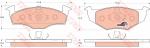 Колодки дисковые Передние, TRW, GDB1306