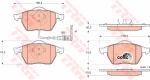 Колодки дисковые Передние, TRW, GDB1403