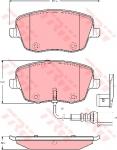 Колодки дисковые Передние, TRW, GDB1472