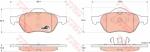 Колодки дисковые Передние, TRW, GDB1540
