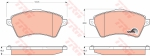 Колодки дисковые Передние, TRW, GDB1473