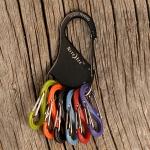 Брелок для ключей NiteIze Key Rack с пластик. карабинами, милитари