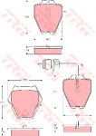 Колодки дисковые Передние, TRW, GDB1371