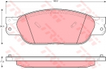Колодки дисковые Передние, TRW, GDB1401