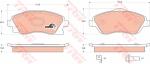 Колодки дисковые Передние, TRW, GDB1570