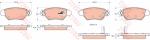 Колодки дисковые Задние, TRW, GDB1352