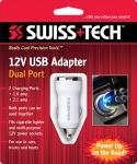 Автомобильный USB адаптер, 2 порта 12vUSBAdapter,Dual,White