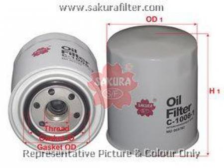 Фильтр масляный, SAKURA, C10081