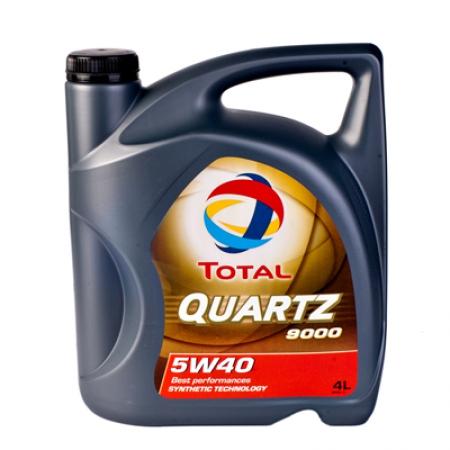 Моторное масло TOTAL QUARTZ 9000, 5W-40, 4л, 148597