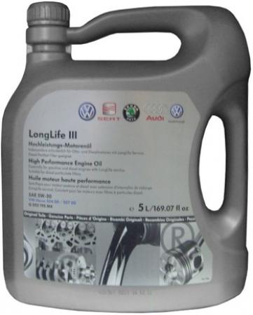 Масло VAG Longlife III 5W30 5l G052195M4