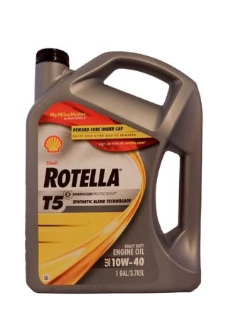 Моторное масло SHELL Rotella T5 SAE 10W-40 (3,785л)