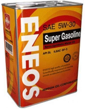 Моторное масло ENEOS SUPER GASOLINE SL, 5W-30, 4л, 8801252021445