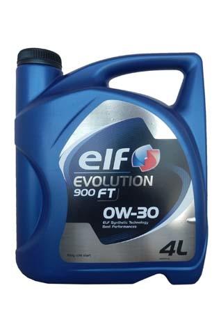 Моторное масло ELF Evolution 900 FT, 0W-30, 4л, 195413