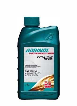 Моторное масло ADDINOL Extra Light MV 038 SAE 0W-30 (1л)