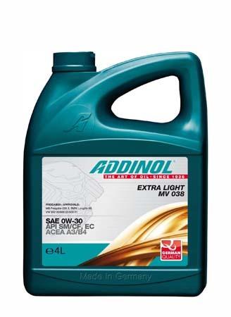 Моторное масло ADDINOL Extra Light MV 038 SAE 0W-30 (4л)